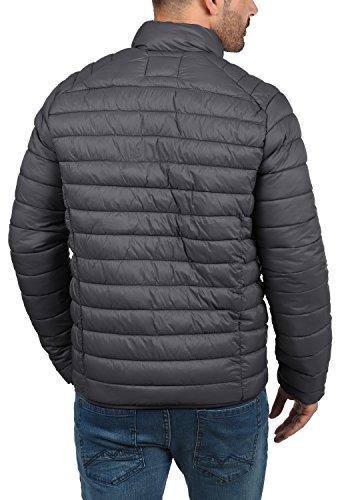 Blend Nils Herren Steppjacke Übergangsjacke Jacke Mit Stehkragen, Größe:S, Farbe:Ebony Grey (75111) - 4