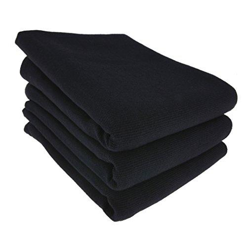 3x Geschirrtuch / Küchentuch / Putztuch / Poliertuch aus 100% Baumwolle in schwarz