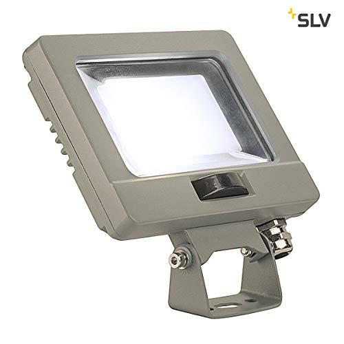 SLV SPOODI Lampe murale LED d'extérieur avec détecteur de mouvement Gris argenté 4000 K 11 W