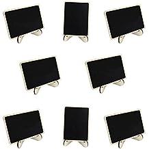 PIXNOR 10 Stück Kreidetafel Memotafel Tischkarte Notiztafel Mini Tafel