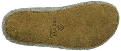 MagicFelt AR 713 Unisex-Erwachsene Pantoffeln Grau (Gotlandschaf 4854)