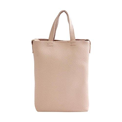 Donne solide due set borsetta spalla borse due pezzi tote zipper hasp borsa portafoglio di kangrunmy (rosa)