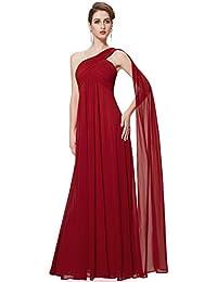 033ba65b5 Ever-Pretty Vestidos Largos de Fiesta Noche de Gasa de un Hombro de Las  Mujeres