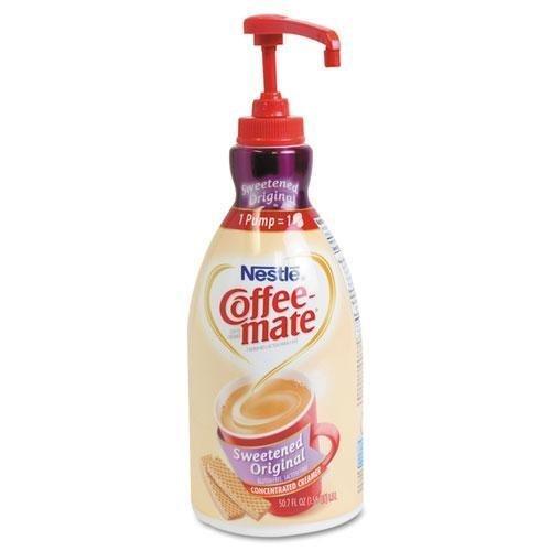 coffee-mate. Líquido café Creamer, edulcorados Original, 1500ml dispensador de bomba (13799) por coffee-mate