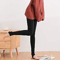 Leggings de Nailon de Otoño E Invierno, Pantalones de una Pieza Gruesos Y de Terciopelo para Mujer, Sandía Pants Pantalones Super Suaves para Los Pies,Pie Negro,Un tamaño (85-1