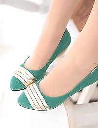 ZQ Zapatos de mujer-Tacón Plano-Comfort-Planos-Exterior / Oficina y Trabajo / Casual / Deporte / Laboral-PU-Negro / Rosa / Marfil / Bermellón , pink-us8.5 / eu39 / uk6.5 / cn40 , pink-us8.5 / eu39 / u