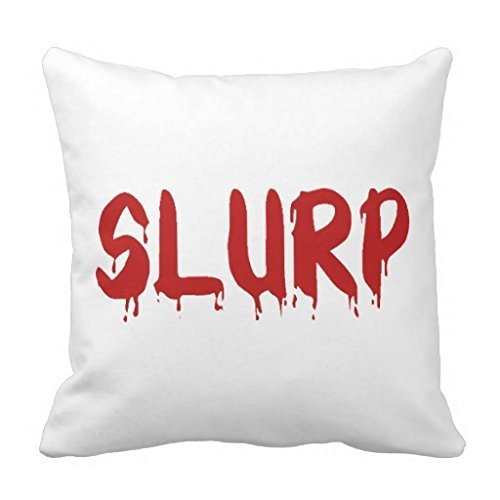 pillowcases Comfortable Pillow Cases Decorative Slurp Red Bloog Dripping Halloween Vampire Bloody Pillow Covers 18x18 Square Cushion CovefoCouch Accent 18 x 18 Pillow Covers online