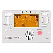 KORG TM60-WH Combo Tuner Metronome - White