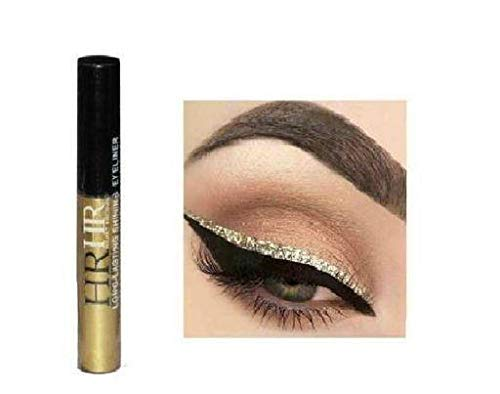 Hilary Rhoda Sparkling Glitter Metallic Waterproof Liquid Eyeliner Eye Party Cosplay Wedding Makeup Eye Liner Tools - Gold