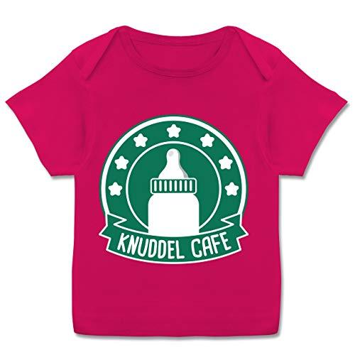 Karneval und Fasching Baby - Knuddle Cafe Karneval Kostüm - 68-74 (9 Monate) - Fuchsia - E110B - Kurzarm Baby-Shirt für Jungen und Mädchen (Tron Kostüm Mädchen)