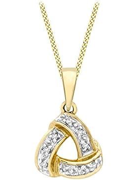 Carissima Gold Damen-Kette 9 kt (375) white gold Curb Chain