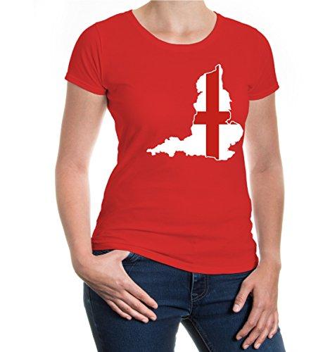 buXsbaum® Girlie T-Shirt England-Shape Red-z-direct