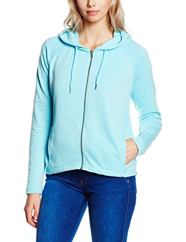 s.Oliver Denim Sweatjacke, Sweat-Shirt Femme Bleu (blue light 6050)