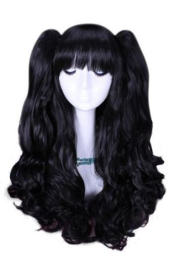 fast-shipping-from-uk-l-email-beautiful-50cm-long-black-lolita-clip-on-ponytails-cosplay-hair-wig-rw