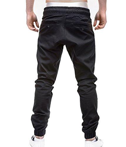 Betterstylz MasonBZ Chino-Jogger Pantalon Chino Èlégant Homme 20 couleurs (S-3XL) Schwarz/Sommer Edition