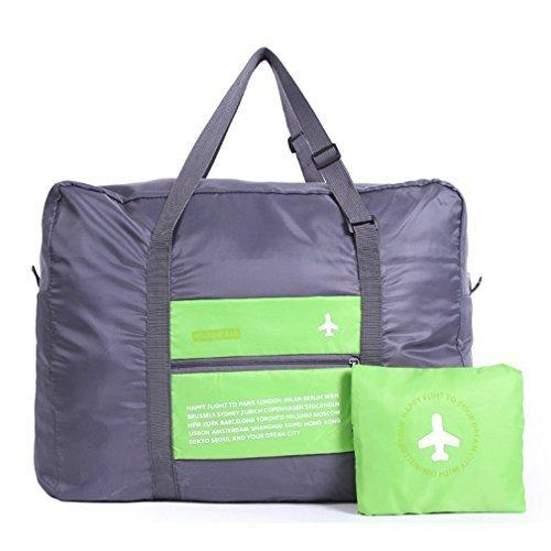 32L grande borsone da viaggio pieghevole, WITERY leggera impermeabile multifunzione valigia da viaggio pieghevole/sportiva sacchetti/imballaggio Organizer/palestra borsa, Green (verde) - CA3101