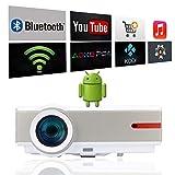 Wi-Fi proiettore Android 1080p video proiettore Full HD 5000lumen proiettore Cinema in casa Android TV HDMI USB LCD LED proiettore Android WiFi WLAN HD TV proiettore 3d video proiettore