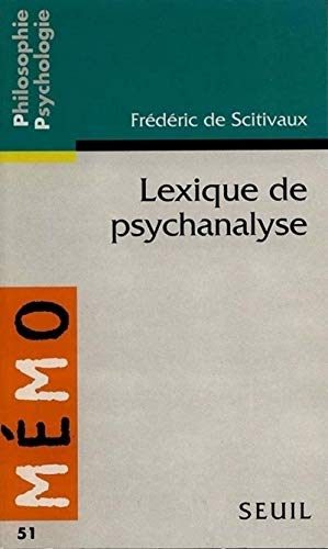 Lexique de psychanalyse par Frederic de Scitivaux
