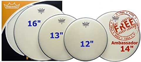 REMO PP-0112-BA Ambassador 12 inch ProPack Coated Drum Head