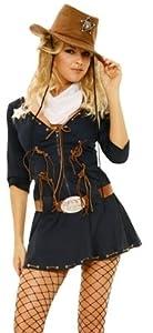 Elegant Moments - Disfraz de sheriff para mujer, talla L (ELE9697-L)