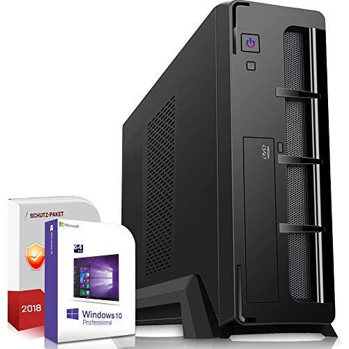 Mini PC Office/Multimedia inkl. Windows 10 Pro 64-Bit! - AMD Quad-Core A10-7890K 4X 4.1GHz Turbo - 8GB DDR3 RAM - 1TB HDD - Radeon HD R7000 mit 4GB HyperMemory 8xCore Grafik - 24-Fach DVD Brenner -