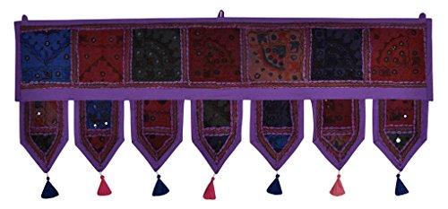 Decorativo ricamato patchwork finestra tenda mantovana
