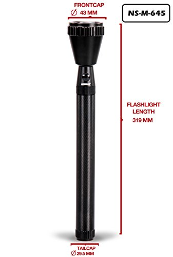 NS-M-645 NISHICA Industrial Security Purpose Metal Torch - 300 Meter Range