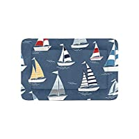 Enhusk Boat Ship River Ocean Transport Extra Large Bedding Soft Pet Dog Beds Couch For Puppy And Cats Furniture Mat Cave Pad Cover Cushion Indoor 36x23 Inch