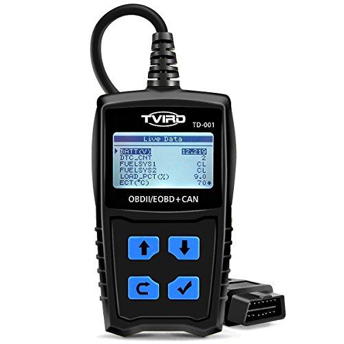 OBD2 Diagnosegerät Auto Tvird Universal Diagnose Scanner für alle Fahrzeuge ab 2000 mit OBD II Protokolle/standardem 16-pin OBD-II Schnittstelle/Batterietest EOBD Code Reader (24 Monate Garantie) (Obd Ii Scanner Abs)