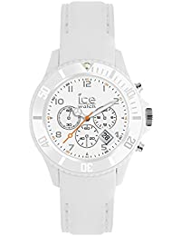 Ice-Watch - ICE Chrono matte White - Weiße Herrenuhr mit Silikonarmband - 013716 (Large)