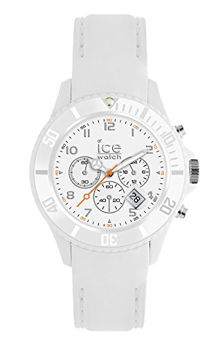 Ice-Watch - ICE Chrono matte White - Montre blanche pour homme avec bracelet en silicone - 013716 (Large)