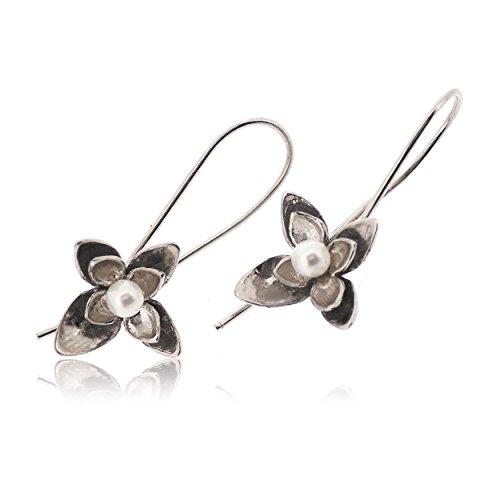 Sovats Damen Blume-Ohrring 925 Sterlingsilber
