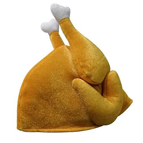 BESTOYARD Truthahn Hut Mütze Hähnchen Hut Hühner Hut Türkei Hut Thanksgiving Halloween Weihnachten Kostüm Zubehör (Braun)
