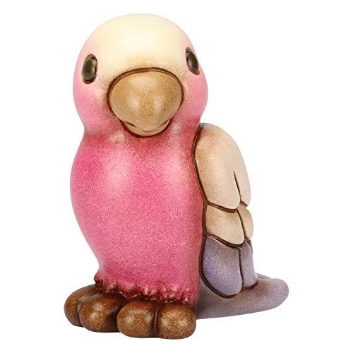 THUN Pappagallo Rosa-Ceramica-h 8,5 cm-Linea I Classici