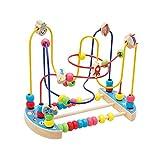 Holz Obst String Perlen Labyrinth Achterbahn Spielzeug, Kleinkinder Bunte Perlen Abacus Kreis Puzzle Lernspielzeug, für 3 4 5 6+ Jahre Alte Jungen & Mädchen Geschenke Weihnachts (B)