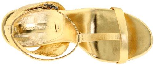 BCBG Max Azria Danya Damen Leder Sandale Gold
