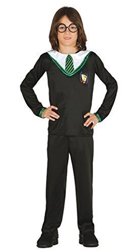 Fancy Me Jungen Grünen Zauberer Halloween TV Buch Film schuljnge Uniform Nerd Geek Student Kostüm Kleid Outfit 5-12 Jahre - Grün, 7-9 ()