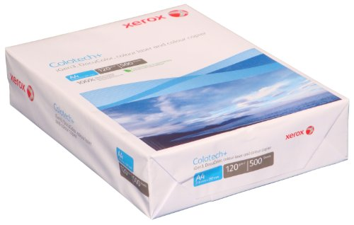 Xerox 003R94651 Colotech+ Premium Farblaserpapier, DIN A4, 120 g/m², 500 Blatt, weiß