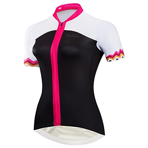 Logas magliette ciclismo donna maglia ciclismo donna manica corta maglia bici donna nera/rossa per mtb