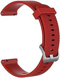 Miss-an Correa Deportiva de Silicona para Samsung Galaxy SM-R800 46 mm, Correa de Mano Universal de Repuesto Reloj Negro para Hombres de Las Mujeres