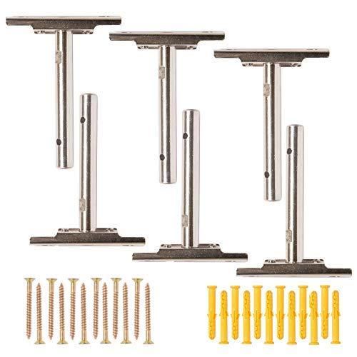 ez-mount Hängeregal Klammern | komplett Hardware Kit für einfachen Montage Holz, Custom & DIY Böden (6Pack) Verstellbarer verstecktem Rollo unterstützt für verdeckter, unsichtbarer Regal | Heavy Duty
