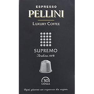 Pellini Caffè - Espresso Pellini Luxury Coffee Supremo (Astuccio da 30 Capsule), Compatibili Nespresso