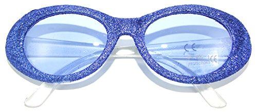 Party Sixties Kostüm - Sixties Glitter Party Brille Oval Blau