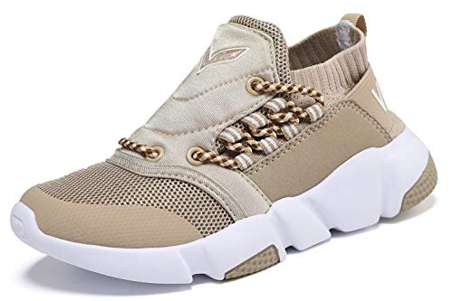Ragazzi Ragazze Sneaker Outdoor Athletic Slip su Scarpe da Corsa Casuali