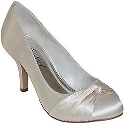 Perfect Bridal Shoes Grace, Damen Brautschuhe , weiß - elfenbeinfarben - Größe: 35.5