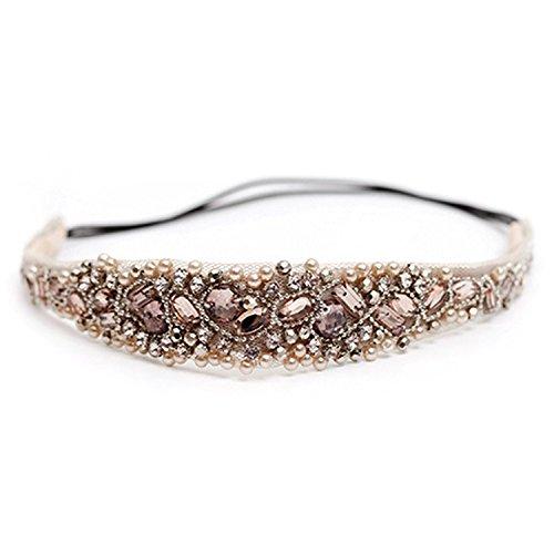 Butterme womens ragazze fatto a mano con strass di cristallo gioielli di perline pizzo hairband capelli accessori per matrimonio festa di compleanno regalo di natale