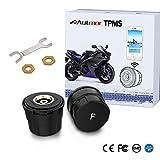 Autmor Bluetooth TPMS Reifendruckkontrollsystem Motorrad Reifendruckmesser mit App MotorCare unterstützt iOS/Android