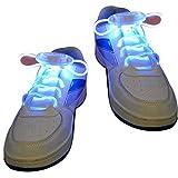 Lanking LED Schnürsenkel, Flash Light Up LED Glow ShoeLace String Strap für Nachtlaufen Party Tanzen Cosplay Hip-Hop