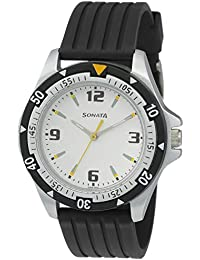 Sonata Super Fibre Analog Black Dial Men's Watch -NH7930PP01C