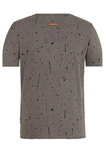 Naketano Male T-Shirt What's The 411 Heritage Dark Grey Melange